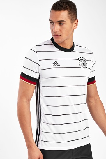 adidas White Germany Home Football Shirt