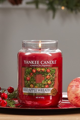 Yankee Candle Classic Large Jar Red Apple Wreath Candle