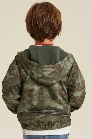 FatFace Green Lightweight Camo Jacket