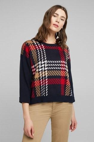 Esprit Blue Check Sweater