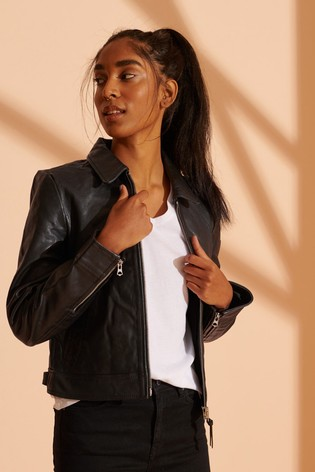 Superdry Down Town Leather Jacket