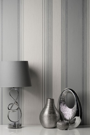 Crown Grey Synergy Stripe Wallpaper