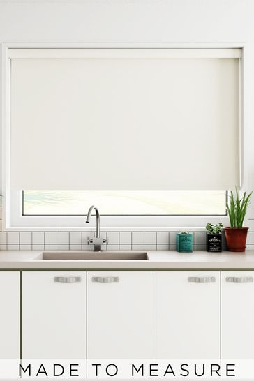 Haig Ivory Cream Made To Measure Blackout Roller Blind