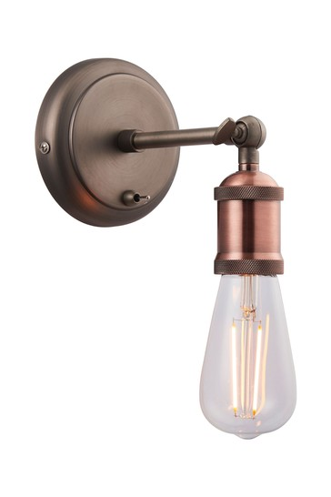 Gallery Direct Pewter Halsy Wall Light