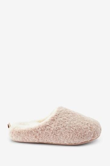 Oatmeal Cream Forever Comfort Soft Fur Mule Slippers