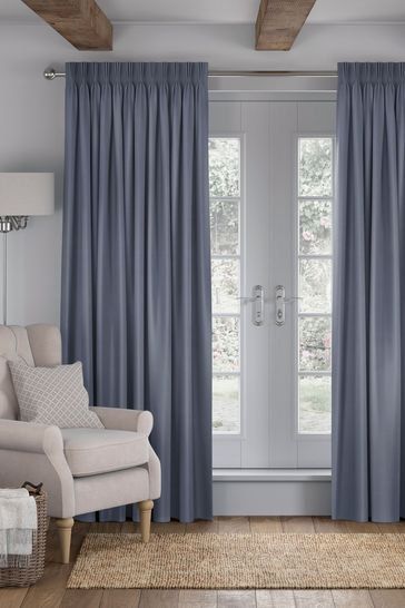Imogen Denim Blue Made To Measure Curtains