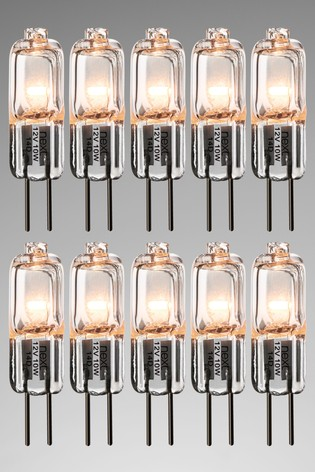10 Pack 10W Halogen G4 Bulb