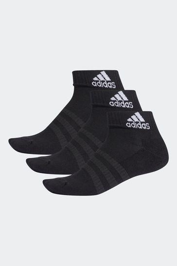 adidas Adult Black Ankle Socks 3 Pack
