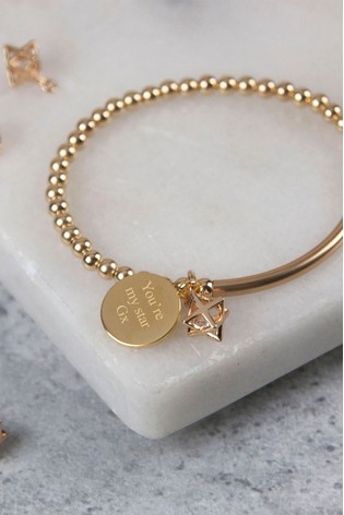 Personalised Cosmic Star Beaded Bracelet by Oh So Cherished