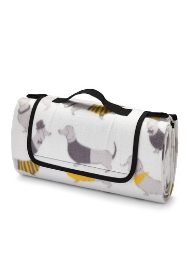 Silly Sausage Dogs Blanket by Catherine Lansfield