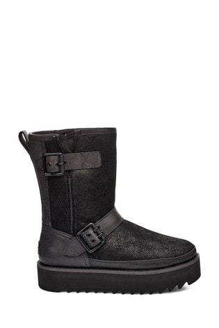UGG® Black Classic Rebel Biker Boots