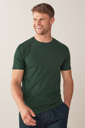 Bottle Green Slim Fit Crew Neck T-Shirt