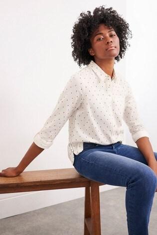 White Stuff White Cecily Cotton Shirt