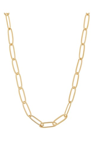 Accessorize Gold Link Chain Necklace