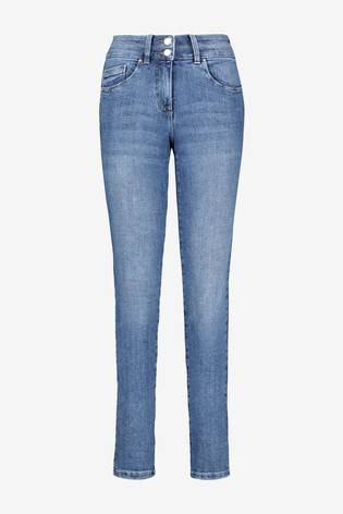 Mid Blue Lift, Slim & Shape Slim Jeans