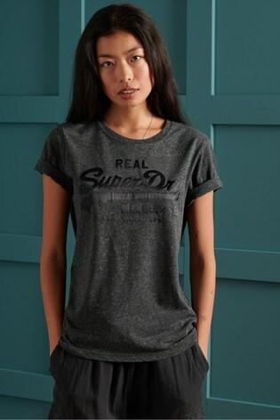 Superdry Vintage Logo Tonal Satin T-Shirt
