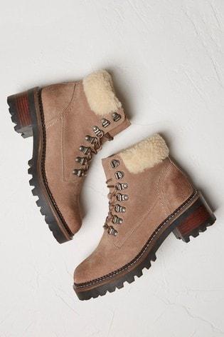 FatFace Natural Newbury Hiker Boots