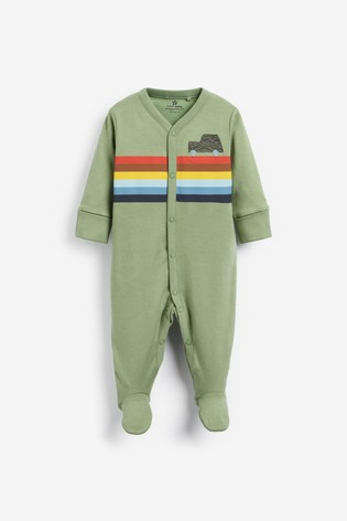 Red/Green 3 Pack Car Sleepsuits (0mths-2yrs)
