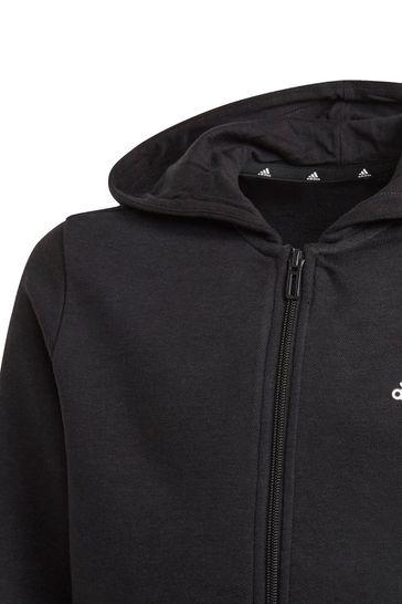 adidas Linear Logo Zip Through Hoodie
