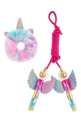 Monsoon Unicorn Skipping Rope & Scrunchie Set