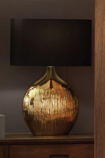 Pacific Gemini Etched Ceramic Table Lamp