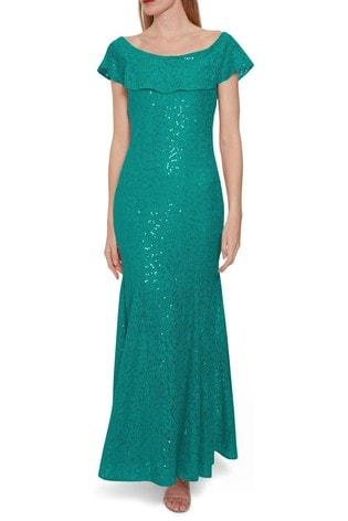 Gina Bacconi Amara Sequin Lace Maxi Dress