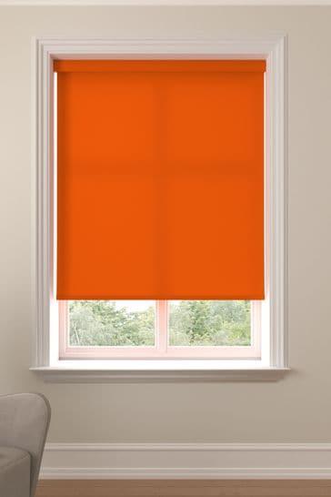 Asher Tangerine Orange Made To Measure Light Filtering Roller Blind