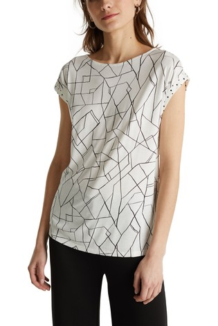 Esprit Natural Sleeve Detail Elegant Top