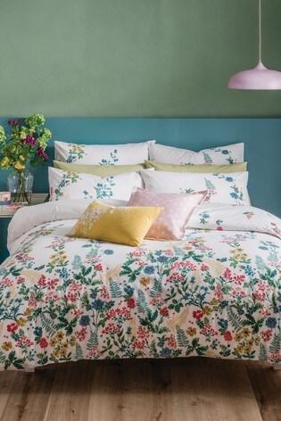Cath Kidston® Twilight Garden Floral Cotton Duvet Cover and Pillowcase Set
