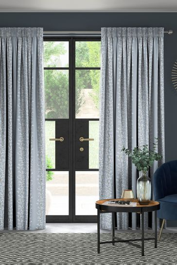 Wray Sky Blue Made To Measure Curtains