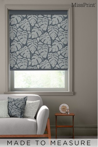 Guatemala After Dark Blue Made To Measure Roller Blind by MissPrint