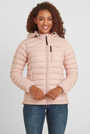 Tog 24 Womens Pink Drax Down Fill Hooded Jacket