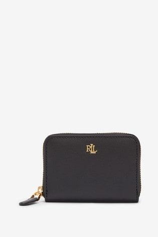 Lauren Ralph Lauren® Black Compact Leather Purse