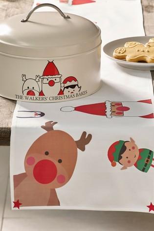Jonnys Sister Personalised Christmas Cake Tin