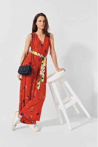 Mix/Caroline Issa Floral Print Jumpsuit