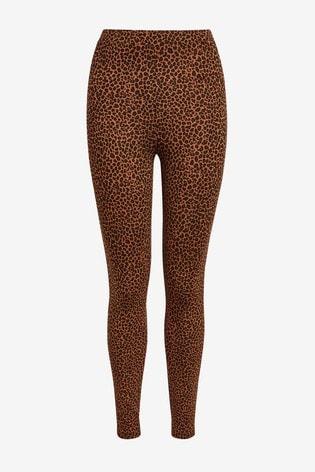 Leopard Print Full Length Leggings