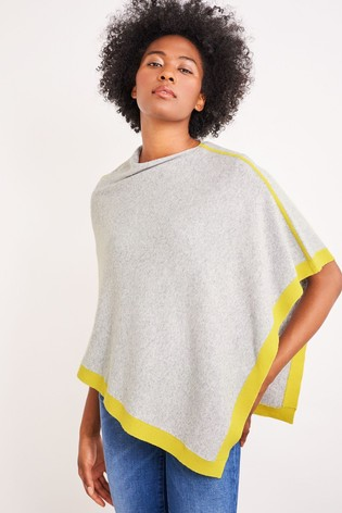 White Stuff Grey Phoebe Poncho