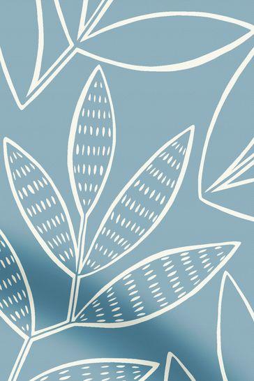 MissPrint Blue Laurus Made To Measure Roller Blind