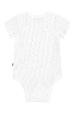 BOSS Baby White Logo Bodysuit Two Pack Set