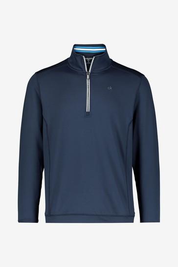 Calvin Klein Golf Blue Orbit Half Zip Jumper