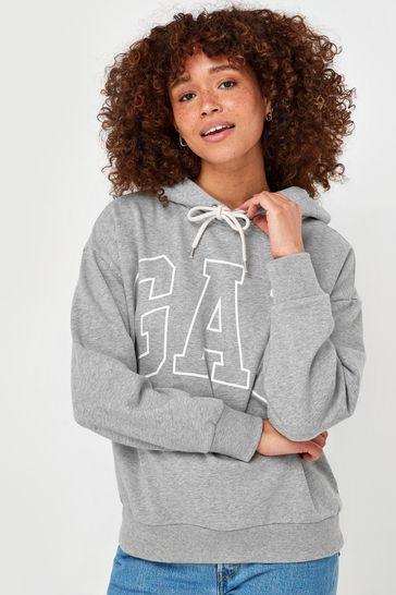 Gap Logo Easy Pullover Hoodie
