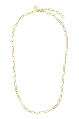 Accessorize Gold Tone Z Plain Paper Clip Chain