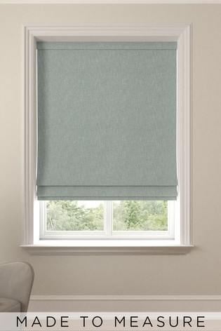 Bouclé Teal Green Made To Measure Roman Blind