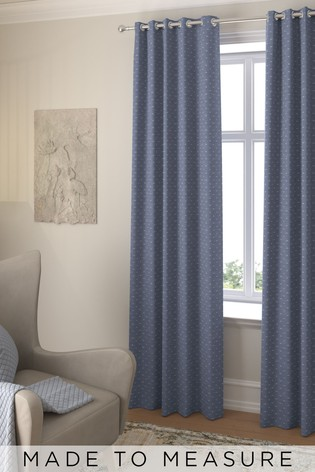 Windsor Navy Blue Made To Measure Curtains