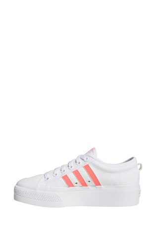 Buy adidas Originals White/Pink Nizza