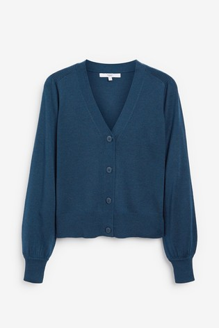 Teal Volume Sleeve Cardigan