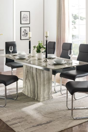 Porta Extending Dining Table with 6 Chairs by Alfrank