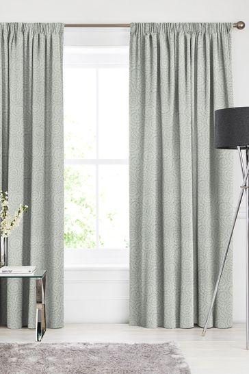 Inspira Seafoam Green Made To Measure Curtains