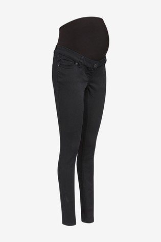 Stay Black Maternity Skinny Jeans