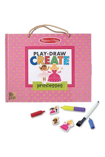 Melissa & Doug Princess Reusable Drawing And Magnet Kit